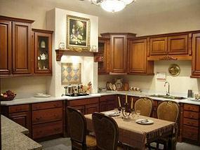 Solid Wood Oak Kitchen Cabinet Furniture With Countertop