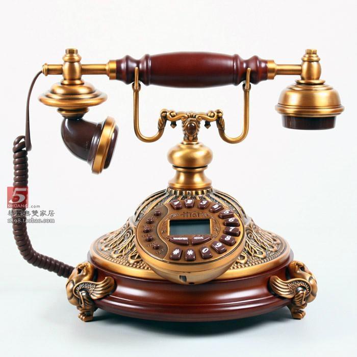 仿古电话机 欧式电话别墅电话高档古典电话机图片