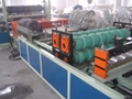 PVC roof tile making machine. 1