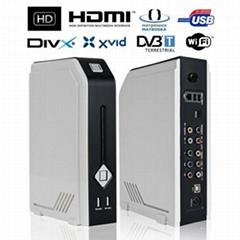 3.5寸硬盘播放器/录像机,支持WiFi, DVB-T