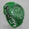 silicone strap plastic watch case Green Color ICE Watch