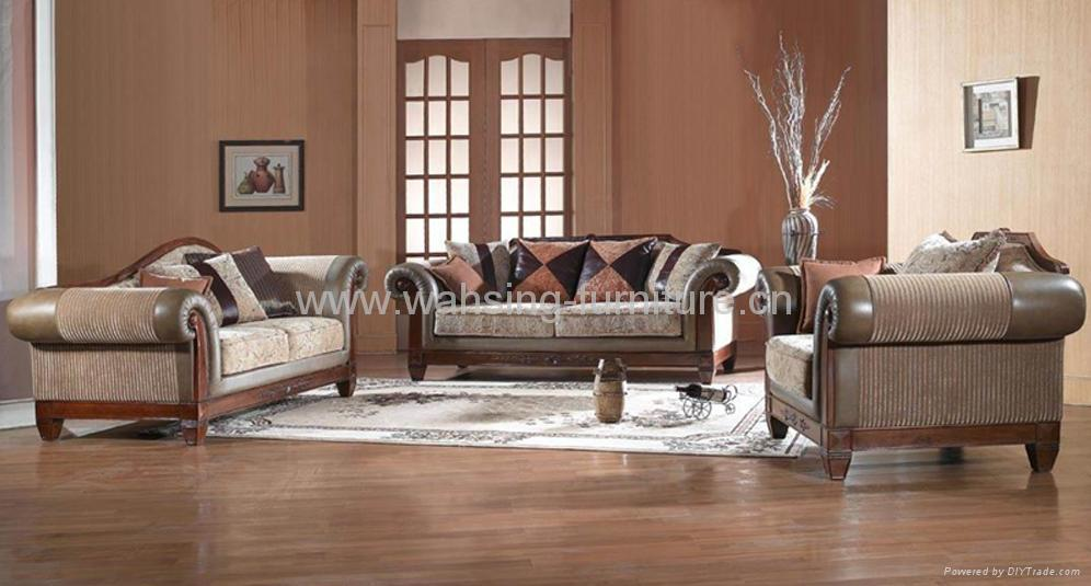 ... Antique Royal Solid Wood Furniture Leather/fabric Sofa Set Living Room  Furniture 3 ... Part 47