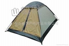 三人野營旅遊帳篷