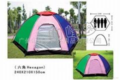 廣州山峰夢旅遊用品-六角多人帳篷