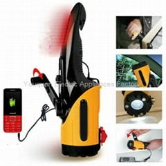 Multi-Functional Dynamo Flashlight / Emergency Lamp