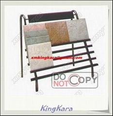 Iron Steel Tile Display Stand, tile display rack, ceramic tiles display