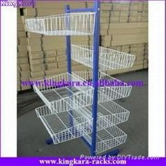 KingKara wire basket display stand