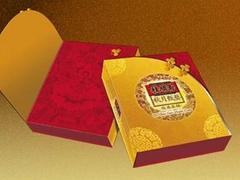 金银卡纸UV胶印工艺+裱糊礼品盒