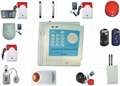 Wireless intelligent burglar alarm