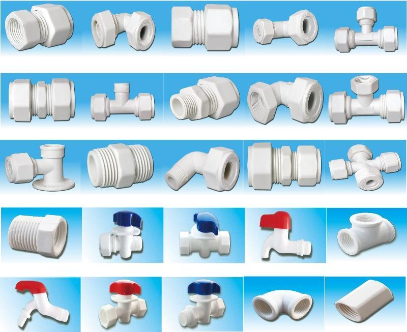Plastic nylon pipe fitting tube fitting for aluminum for Plastic water pipe pex