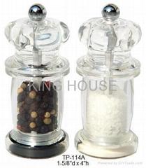 Acrylic Pepper / Salt Mill