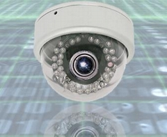 High Resolution Vandal Proof IR Dome Camera With Varifocal lens
