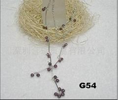 925 纯银镶硞石项链