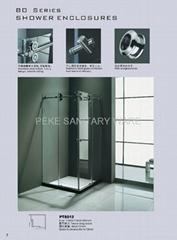 Stainless Steel Corner Shower Enclosure