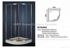 Fan-Shaped Shower Enclosure