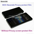 Privacy screen protector for iPhone 5 4