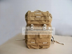 JEEP travel recyclable material car luggage backpack bag