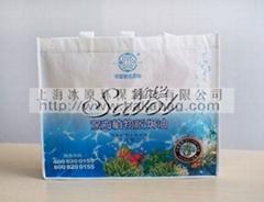 上海无纺布购物手提覆膜环保袋 冰原生产 fm106