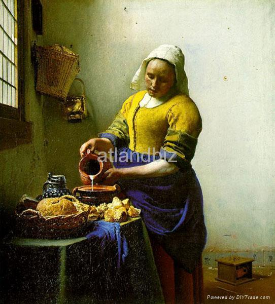 Jan. Vermeer oil painting reproduction 1