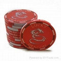 Lucky Dragon Ceramic Poker Chips