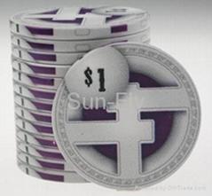 Dropa Discs Ceramic Poker Chips