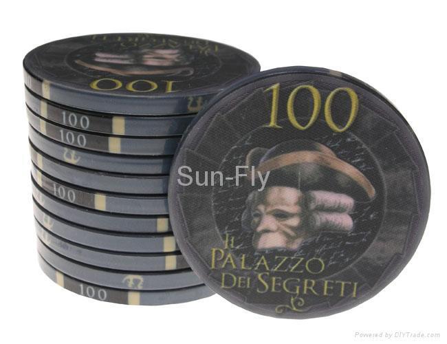 Bauta 43mm Over-sized Ceramic Poker Chips 1
