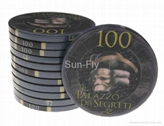 Bauta 43mm Over-sized Ceramic Poker Chips