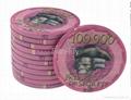 Bauta 43mm Over-sized Ceramic Poker Chips 5