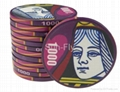 Suits 43mm Over-sized Ceramic Poker