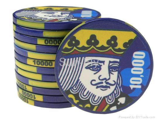Suits 43mm Over-sized Ceramic Poker Chips 2