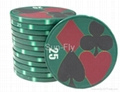 Suits 43mm Over-sized Ceramic Poker Chips 3