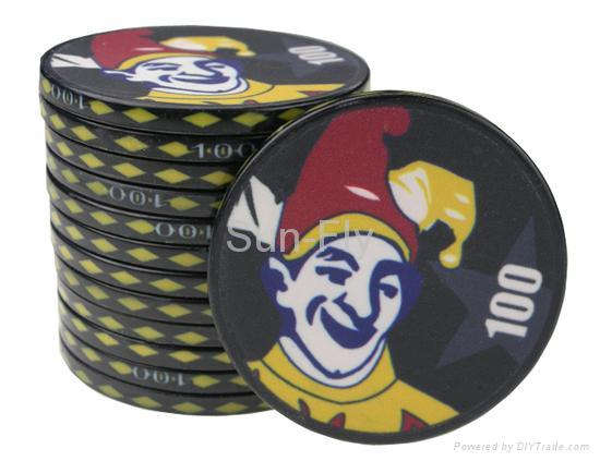 Suits 43mm Over-sized Ceramic Poker Chips 4