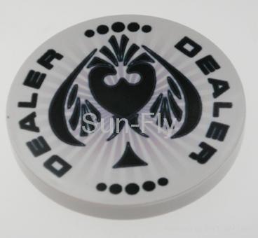 Spaydz 2-inch Ceramic Dealer Button 1