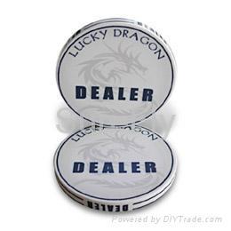 Lucky Dragon 2-inch Ceramic Dealer Button 1