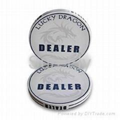 Lucky Dragon 2-inch Ceramic Dealer Button