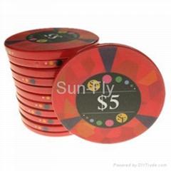 Mosaic Ceramic Poker Chips