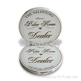 Valentino 2-inch Ceramic Dealer Button 1