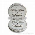 Valentino 2-inch Ceramic Dealer Button