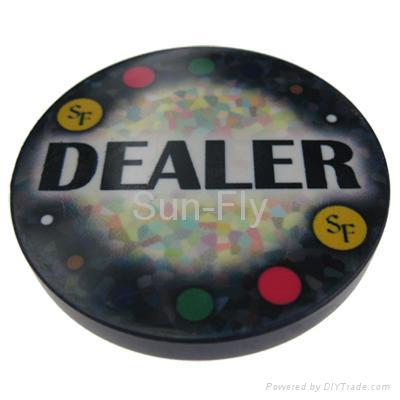 Mosaic 2-inch Ceramic Dealer Button 1