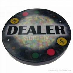 Mosaic 2-inch Ceramic Dealer Button
