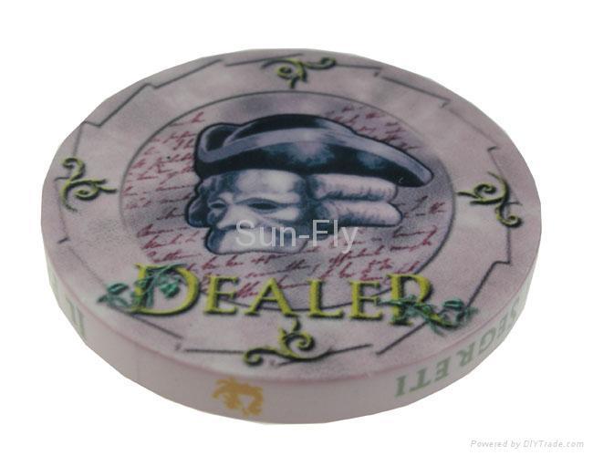 Bauta 2-inch Ceramic Dealer Button 1