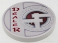 Dropa Discs 2-inch Ceramic Dealer Button