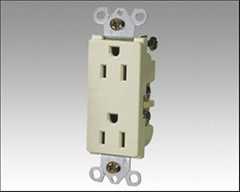15A 125VAC DECORATIVE RECEPTACLE (UL FILE NO. E243553)