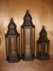 Wrought Iron Lantern, Candle Lantern, LED Lantern