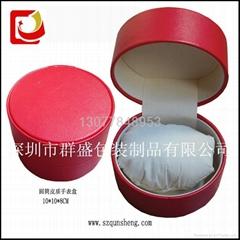 圆形手表皮盒