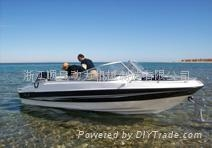 ce approved 5.4m luxury fishing yacht