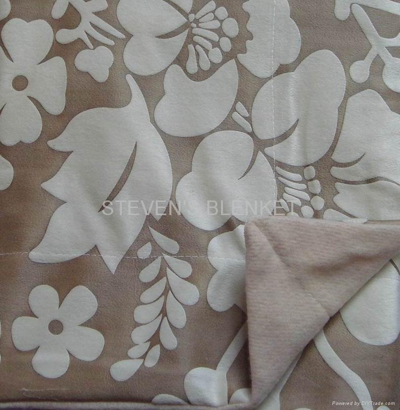 suede with single coral fleece blanket 1