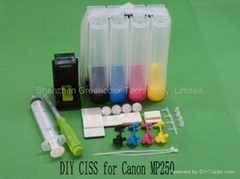 DIY ciss for Canon MP250 MP270