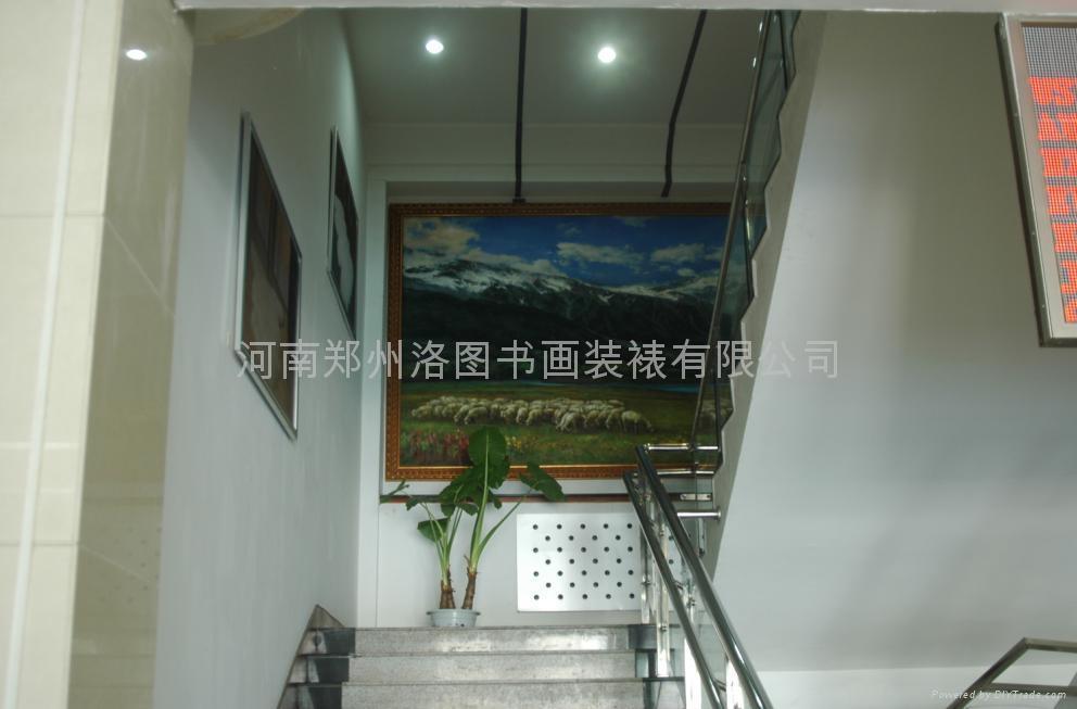 郑州装裱大型国画油画图片