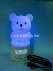 Digital night light thermometer hygrometer
